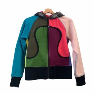 Lululemon Vintage Multi-Color Block Scuba Hoodie